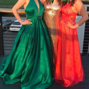 Green Sherri Hill ball gown dress